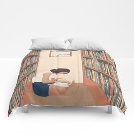 Getting Lost in a Book Comforters