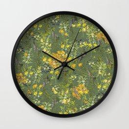 Her Secret Garden II Wall Clock