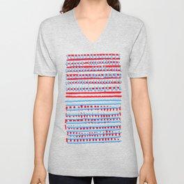 Red, White, Blue Unisex V-Neck