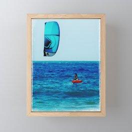 Kitesurfing Framed Mini Art Print