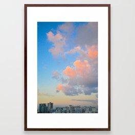 Sunrise City Framed Art Print