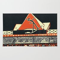 pyramid Area & Throw Rugs featuring pyramid by pcart