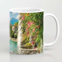 Lake Como, Italy Landscape Painting by Jeanpaul Ferro Coffee Mug