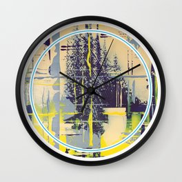 Sunday Morning - round graphic Wall Clock