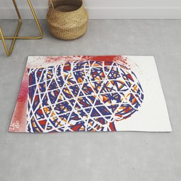 Heart wire Rug