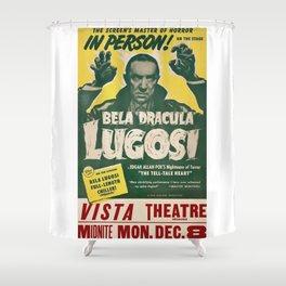 Dracula, Bela Lugosi, vintage poster Shower Curtain
