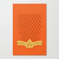 aquaman Canvas Prints featuring I Am Aquaman by Alex Boatman