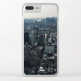 Looking down at NYC Clear iPhone Case