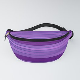 Ombre Purple Stripes Fanny Pack