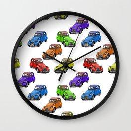 2cv pattern small Wall Clock