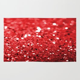 Glitter Red Rug