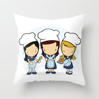 cook Throw Pillows featuring Cook by Jaqueline Teixeira