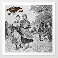 Strange Visitors / UFO PRINT Art Print