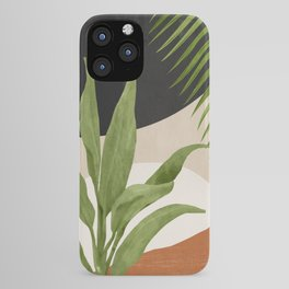 Abstract Art Tropical Leaf 11 iPhone Case
