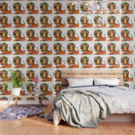 Bauhaus Lion Wallpaper