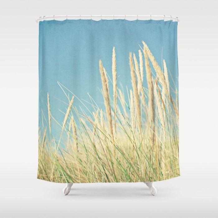Lohan grass skirt shower curtain