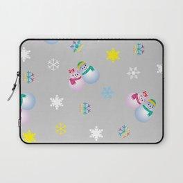 Snowflakes & Pair Snowman_A Laptop Sleeve