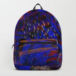 Abstract blue background Backpack