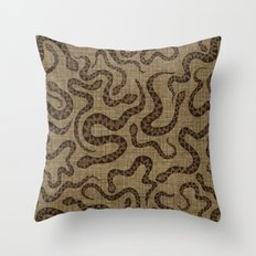 Rattlers Throw Pillow