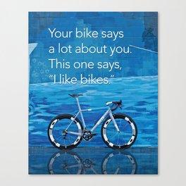 Ritte - I like Bikes Canvas Print