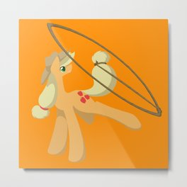 Tail Whipping Applejack Metal Print