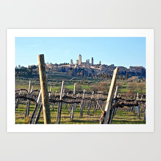 Tuscany's Town of Fine Towers Art Print