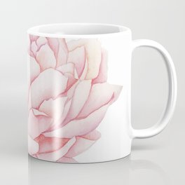 Pink Peony Watercolor Coffee Mug