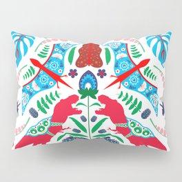 Jurassic Folk Pillow Sham
