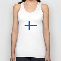 finland Tank Tops featuring Finland country flag by tony tudor