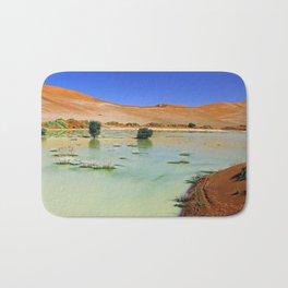 Water in the Namib desert after rain season, Namibia II Bath Mat