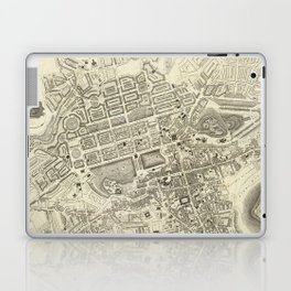 Vintage Map of Edinburgh Scotland (1844) Laptop & iPad Skin