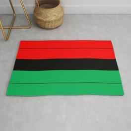 Kwanzaa Red Black Green Stripes Rug