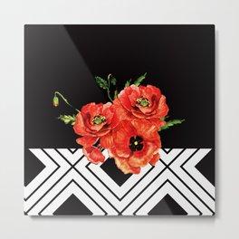 Dark Poppies Metal Print