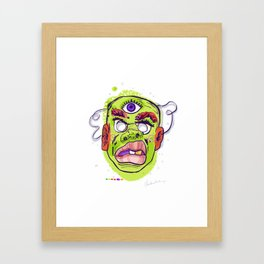scifi mask Framed Art Print
