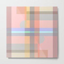 Geometric minimalist composite Metal Print