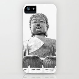 The Big Buddha in Black and White #decor #society6 #buyart iPhone Case
