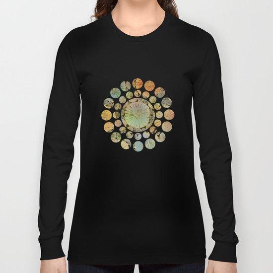 Abstract Floral Circles 2 Long Sleeve T-shirt