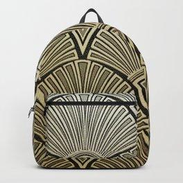 Golden Art Deco pattern Backpack