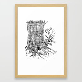 The House at Kaiju Corner Framed Art Print