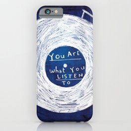 you are what you listen to, BLUE iPhone Case