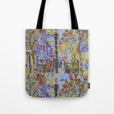 paint by numbers pattern Tote Bag