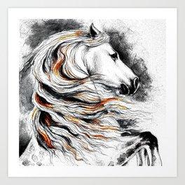 Dark Beauty Horse Art Print