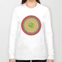 orange pattern Long Sleeve T-shirts featuring Orange pattern  by MinaSparklina