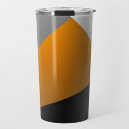 Metallic I - Abstract, geometric, metallic textured gold, silver and black metal effect artwork Travel Mug