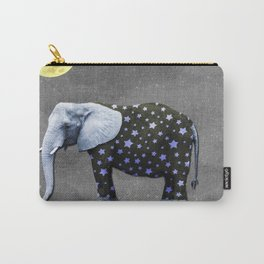 Elephant Under the Moon Carry-All Pouch