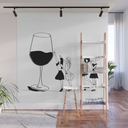 Glass of wine Wall Mural
