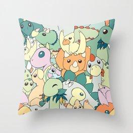 Cute Dino Pattern Throw Pillow