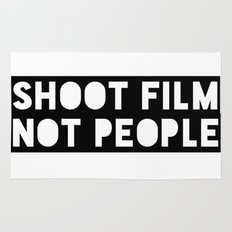 Shoot Film, Not People Rug