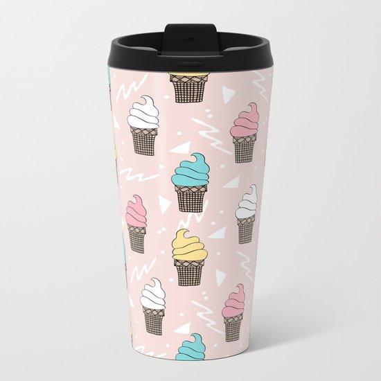 Ice cream dole whip rad geometric dessert treats pattern by andrea lauren Metal Travel Mug