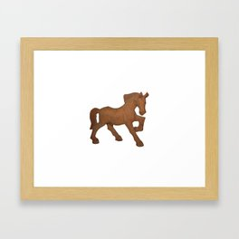 wooden brow horse Framed Art Print